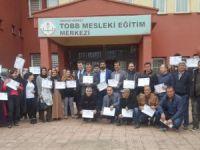 170 kursiyere girişimcilik belgesi verildi