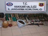 Ördekli köyü kırsalında silah ele geçirildi