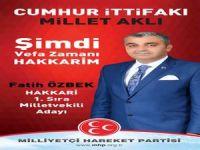 Özbek'ten Ramazan bayramı mesajı