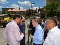 Başkan Epcim asfalt çalışmalarını denetledi