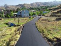 Hakkari'deki asfalt çalışması havadan görüntülendi