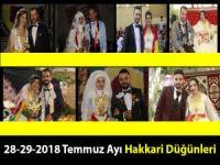 28-29-2018 Temmuz Hakkari Düğünleri