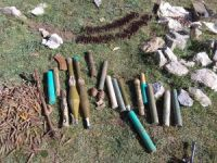 PKK mağarasında mühimmat ele geçirildi