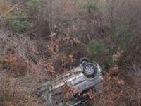 Otomobil, kanala uçtu: 1'i ağır 3 yaralı
