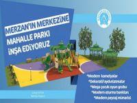 Mezran merkezine mahalle parkı inşa ediliyor