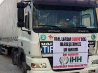 İdlib'e insani yardım gönderildi