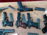 161 adet kuru sıkı tabanca ele geçirildi