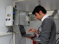 Van'da yerli üretim dolu önleme makinesi