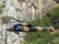 Faraşin Yaylası'nda yoğun helikopter hareketliliği