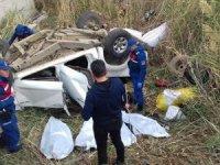 Otomobil takla attı: 4 ölü!
