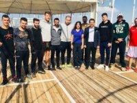 Başkan Gür'den kamptaki sporculara ziyaret