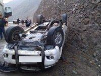 Hakkari'de trafik kazası 1 yaralı