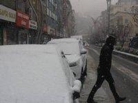 Hakkari kent merkezinde kar yağışı başladı