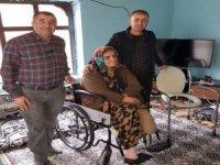 Engelli Çiftçi'nin tekerlekli sandalye sevinci