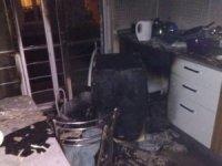 Çamaşır makinesi tek yıkamada kül oldu