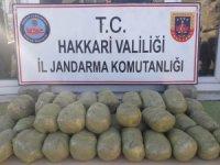 Arazide 43 kilo 586 graüm esrar ele geçirildi