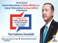 Ak Parti 31 Mart yerel seçimler tanıtım toplantısına davet