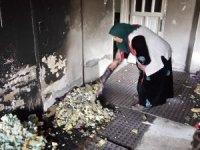 Akar ailesi yangında canını zor kurtardı