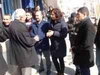 Eşbaşkan adaylarından esnaflara tanışma ziyareti