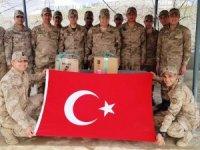 Askerlerden öğrencilere teşekkür mesajı