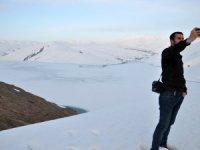 Kışın donan barajın buzları hala çözülmedi
