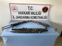 Ağaçdibi köyü kırsalında silah ele geçirildi