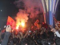 Hakkari'de şampiyon Galatasaray coşkusu
