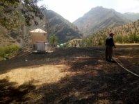 Hakkari Üzümcü köyünde korkutan yangın