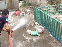 Hakkari'de dere yatakları tazyikli suyla yıkandı