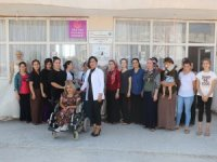 Köy kadınları meslek öğreniyor...