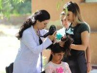 Çukurcalı çocuklara kuaförlük hizmeti