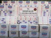 52 bin 500 paket kaçak sigara ele geçirildi