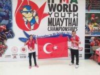 Hakkarili Gezemnur Muay thai'da dünya şampiyonu oldu