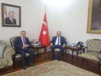 Başkanı Taş'tan Konya valisi Toprak'a ziyaret