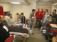 Hakkarililer kan bağışına yoğun ilgi gösteriyor