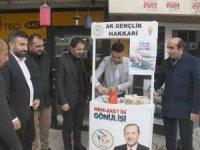 Hakkari AK Parti'den kahve ikramı