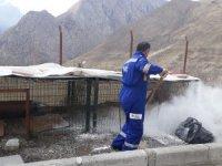 Hakkari'de hayvan bakım evleri dezenfekte edildi