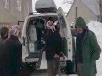 Hastalanan imam sağlık ekipleri tarafından kurtarıldı