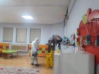 Hakkari'deki anaokul dezenfekte edildi