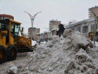 Hakkari'deki kar dağları kent dışına çıkartılıyor