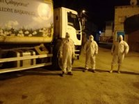 Hakkari'deki temizlik işçileri gerekli önlemleri aldı