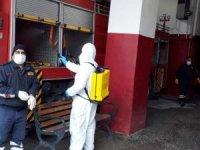 Belediye araçları dezenfekte edildi
