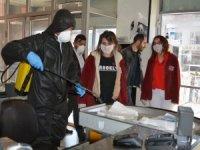 Hakkari'de AVM'ler üçüncü defa dezenfekte edildi