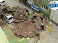 Hakkari'de fırtına afeti yaşandı