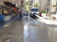 Cadde ve sokaklara 'covid-19' temizliği