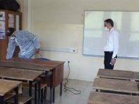 Şemdinli'de okullar dezenfekte edildi