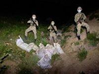 Hudut hattında 65 pompalı tüfek ele geçirildi