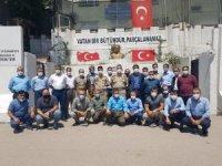 Güvenlik korucularından Binbaşı Carık'a ziyaret