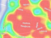 Van'da endişe veren korona virüs haritası