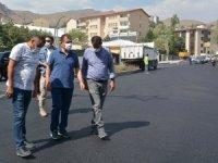 Vali Akbıyık, 3 katlı asfalt çalışmalarını denetledi